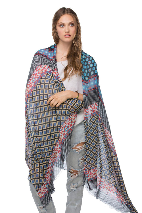 Desert Child Printed Scarf in Multi