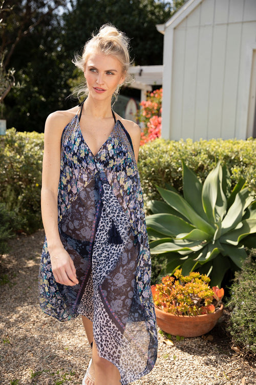 Maxi Tassel Dress in Fields of Florals - Subtle Luxury