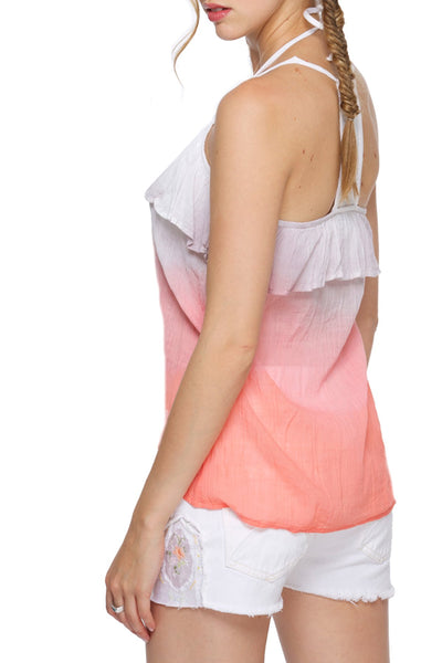 Isabelle Tank in Dip Dye and White