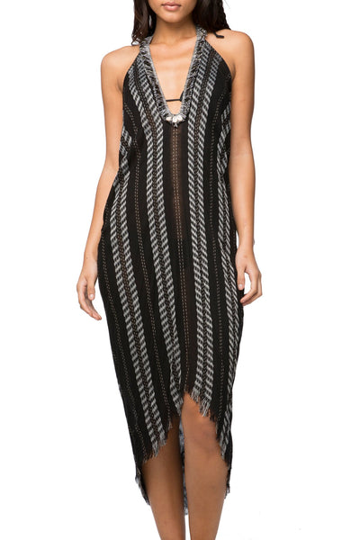 Spirit Weaver Fringe Halter Dress
