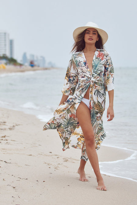 Summer Bloom Maxi Kimono Dress