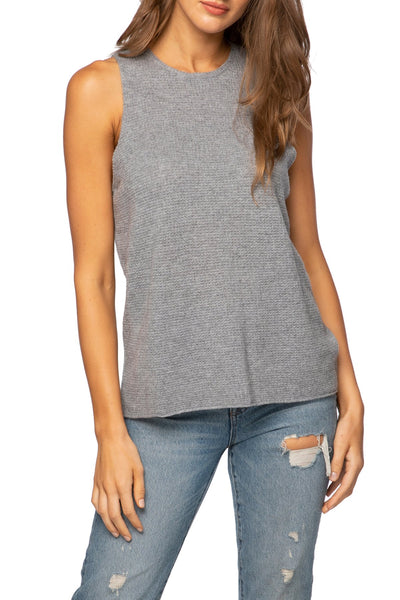 100% Cashmere Thermal Tank - Courtney