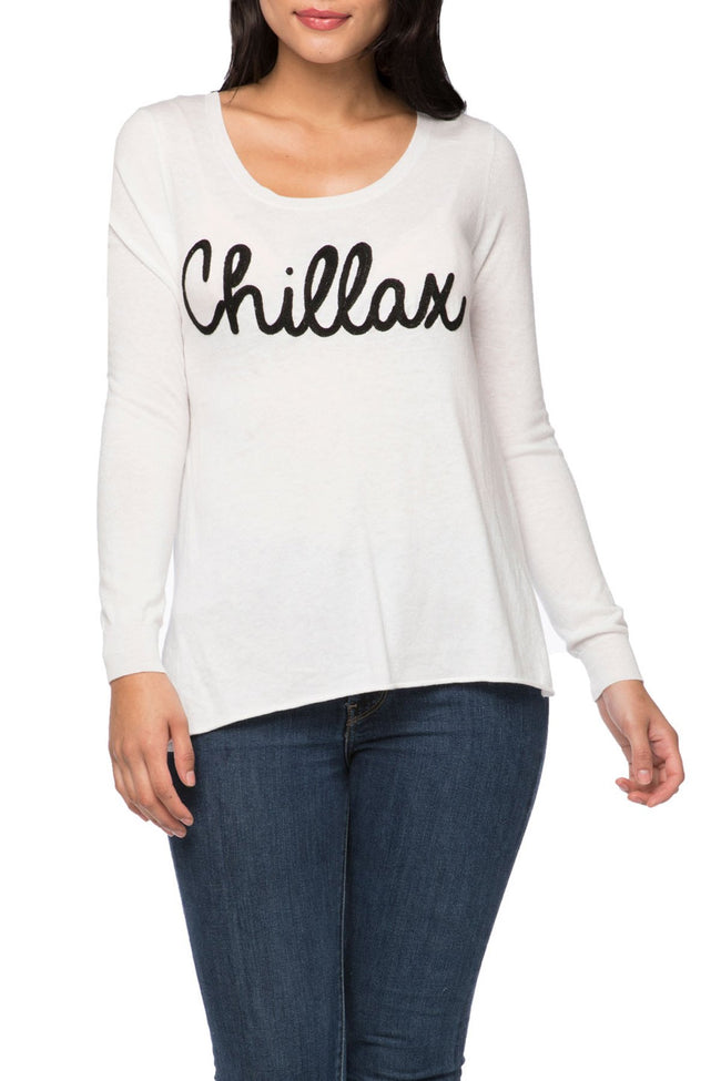 "Zen ""Cruise"" Crewneck Sweater with Chillax Embroidery"