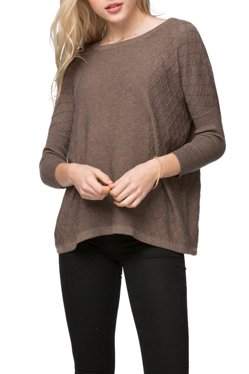 Zoe Cross Stitch Pullover in Cotton Cashmere