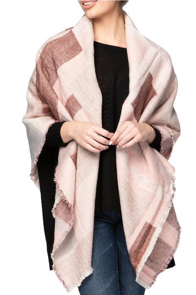 Pretty in Patchwork Blanket Wrap in Pink