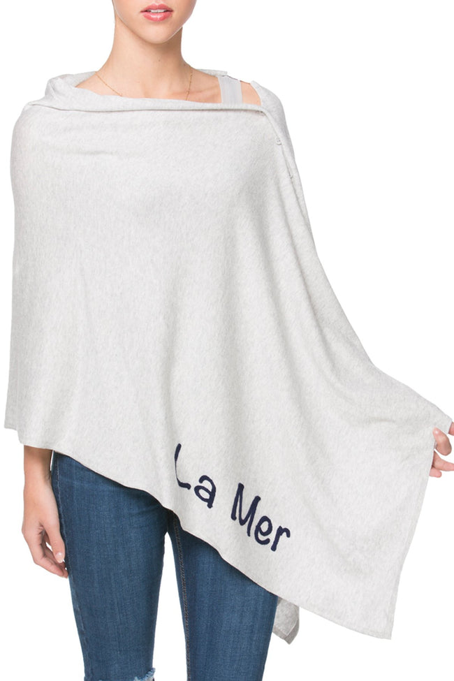 Zen Blend 2 Way Wrap in Fog - La Mer/La Plage