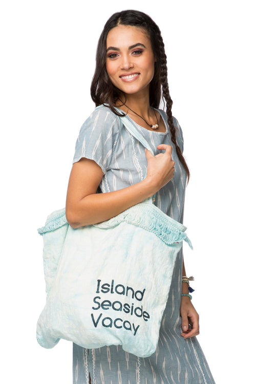 Tie-Dye Market Bag in Beach