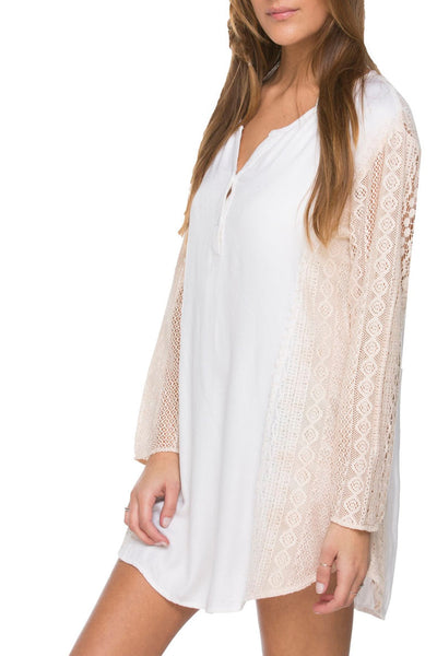 Dreamer Lace Dress in Starfish Pink Dip Dye - Subtle Luxury