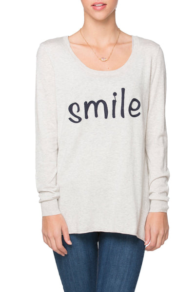 "Zen ""Cruise"" Crewneck with Smile Embroidery - Subtle Luxury"