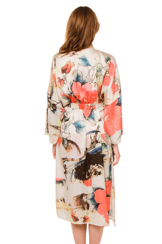 Bed to Brunch Kimono in Isle Print