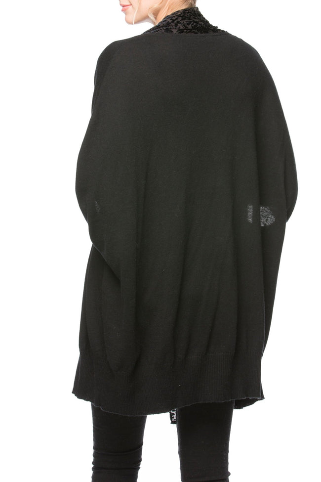 Black Magic Shrug in Medallion Slate