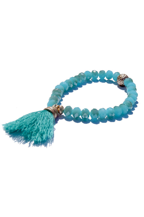 Single Tassel Bracelet in Marine