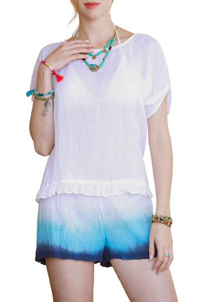 Chelsea Top in  Dip Dye or White