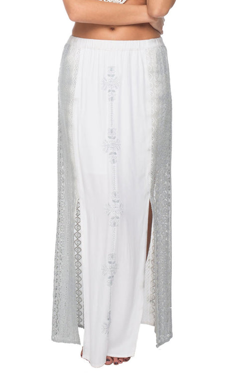Sun Seeker Maxi Skirt in Pebble Dip Dye - Subtle Luxury