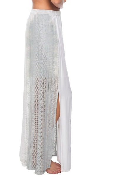 Sun Seeker Maxi Skirt in Pebble Dip Dye