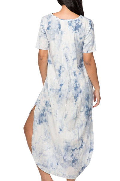 Sophia Maxi Dress in Tie Dye and Stripe