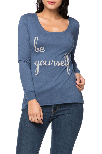 "Zen ""Cruise"" Crewneck with ""be yourself"" Embroidery"