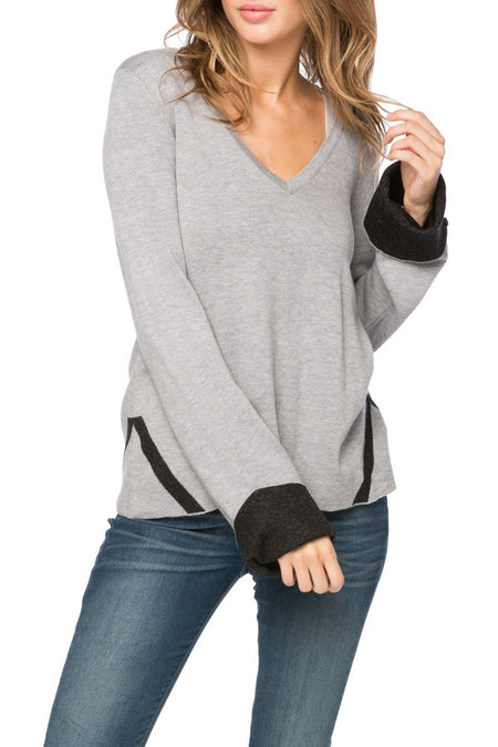 100% Cashmere Loose & Easy Crew Sweater in Black