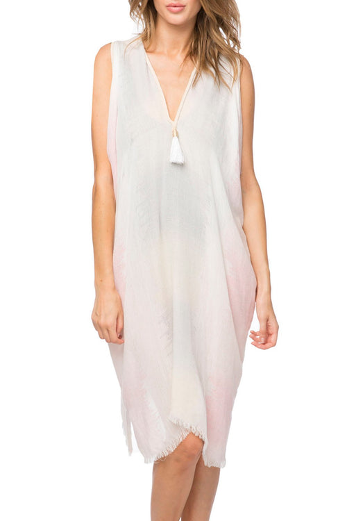 Open Shoulder Dress in Sugar Mountain - Subtle Luxury