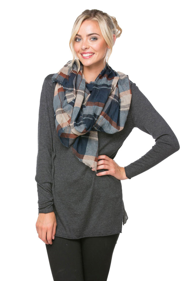 Fireside Plaid Printed Scarf
