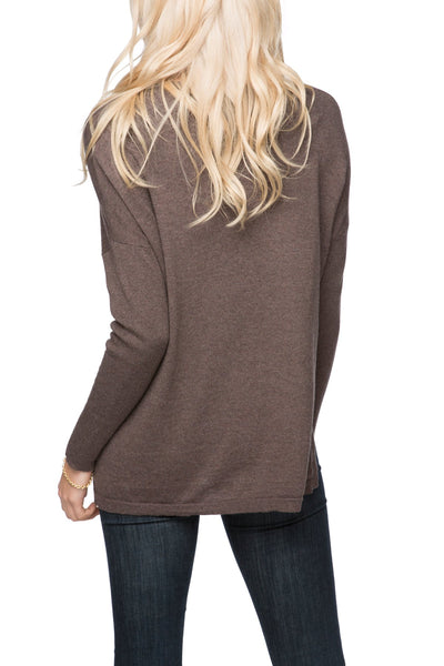 "Jane Drop Shoulder Crew  Sweater | The Heart Wants..."" Embroidery"