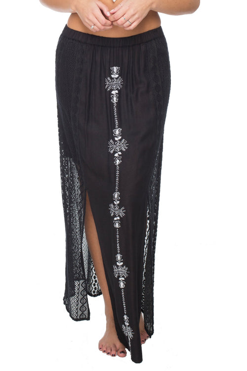Sun Seeker Maxi Skirt in Midnight