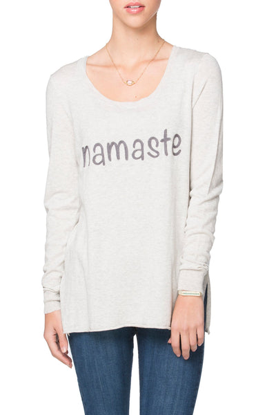 "Zen ""Cruise"" Crewneck with Namaste Embroidery - Subtle Luxury"