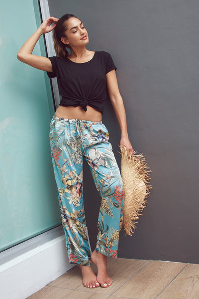 Bailey Beach Pant in Summer Bloom - Subtle Luxury