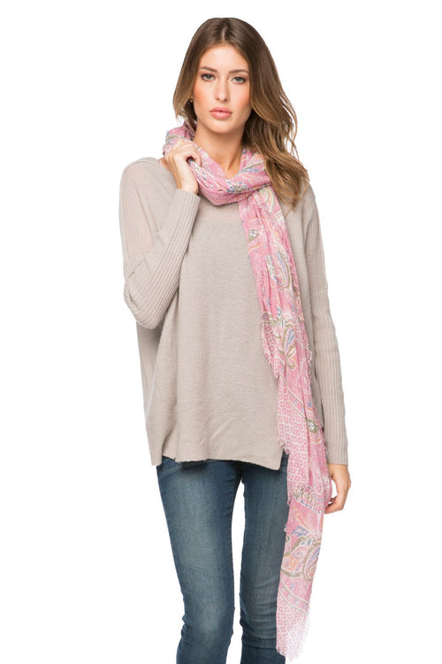 Passionate Paisley Scarf in Pink