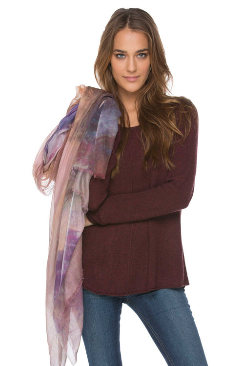 Luxury Scarf Wrap, Horizon Scarf in cashmere blend