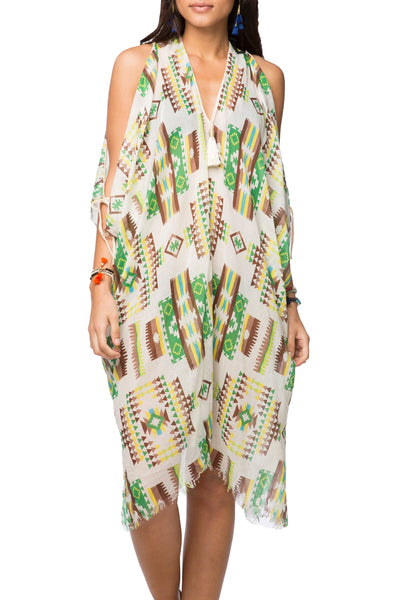 Open Shoulder Dress in Sedona Summer - Subtle Luxury