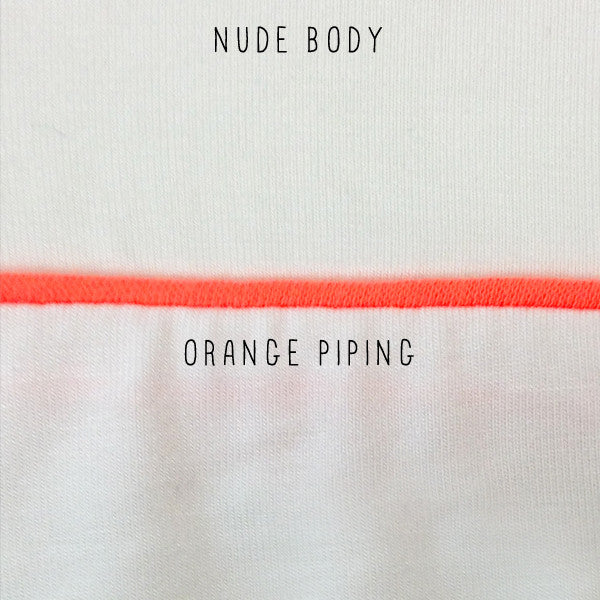 Pippa Night Shirt in Nude/Orange