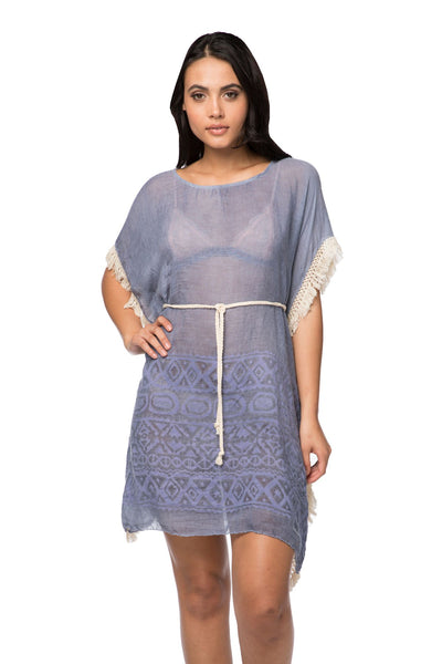 Boho Beach Dress in Dapper in Denim - Subtle Luxury