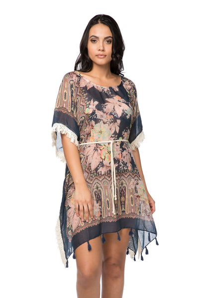 Boho Beach Dress in Rio Blooms - Subtle Luxury