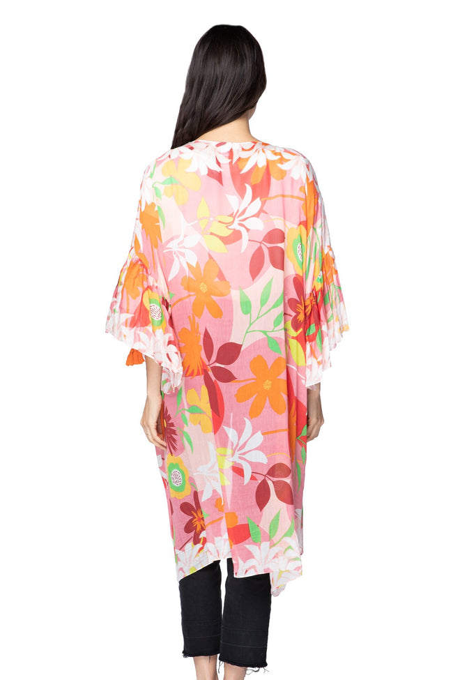 California Dreamin' Bell Kimono in Pink - Subtle Luxury