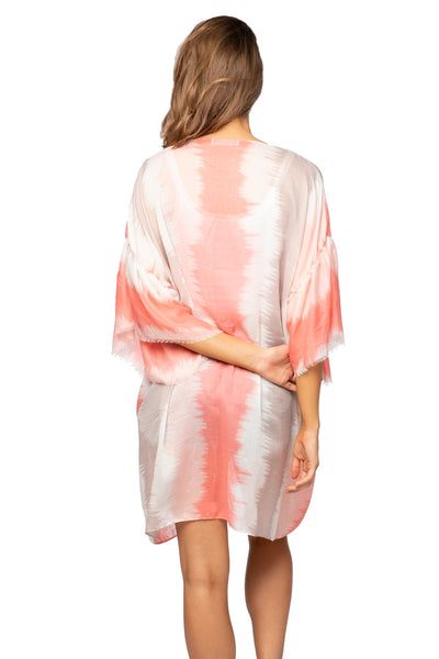 Shades of Color Bell Kimono in Pink