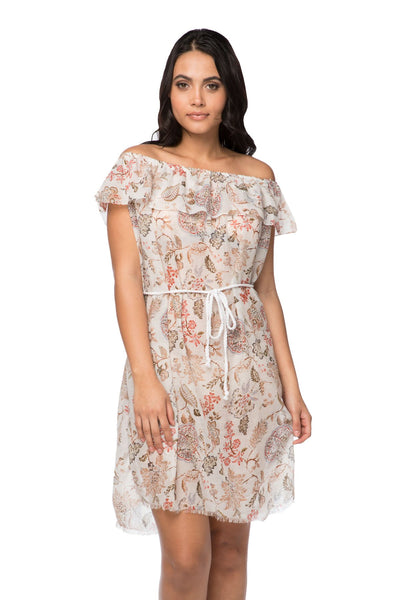 Catalina Ruffle Dress in Victorian Floral - Subtle Luxury