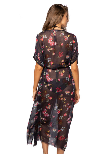 Night Flowers Farrah Kaftan - Subtle Luxury
