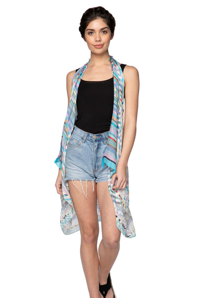 Free Spirit Vest in Colors of Life Blue