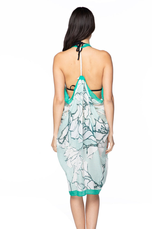 Free Spirit Vest in Be My Lover Print in Mint - Subtle Luxury