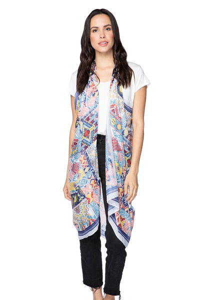 Free Spirit Vest in Magic Carpet Print in Multi - Subtle Luxury