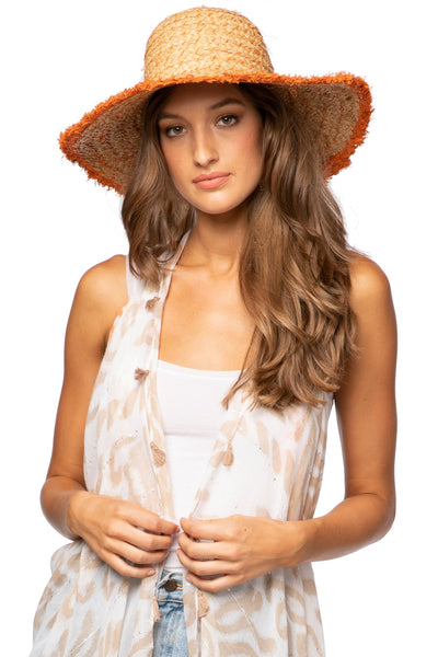 Sydney Hat in Tangerine - Subtle Luxury