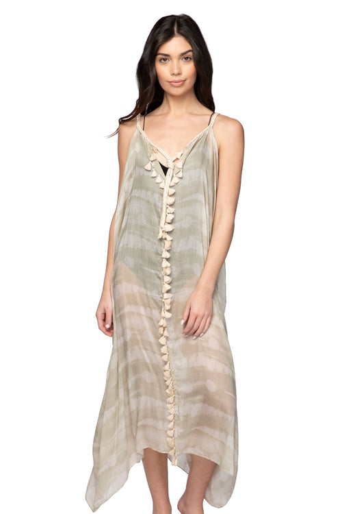Rita Reversible Dress in Sand Dollar - Subtle Luxury