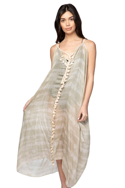 Rita Reversible Dress in Sand Dollar