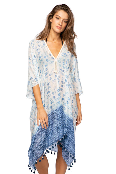 Behind Blue Eyes Kaftan in Blue - Subtle Luxury