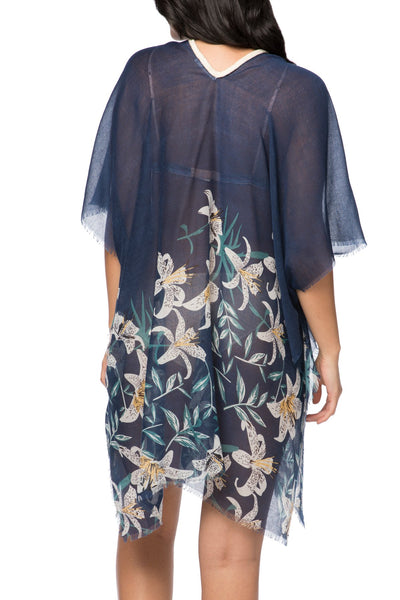 Lovely Lily print V-Neck Kaftan Dress | cover up sun dress - Pool to Party - Subtle Luxury
