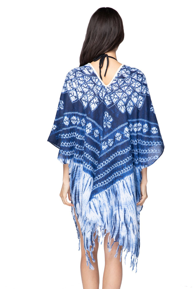 Indigo Diamond Kaftan in Indigo - Subtle Luxury