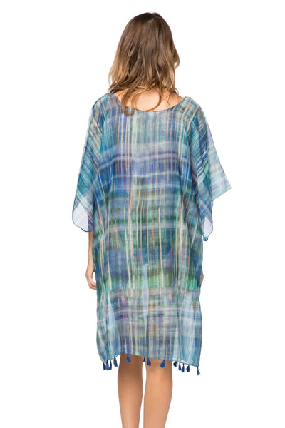 Northern Lights Marina Shift Dress in Blue - Subtle Luxury