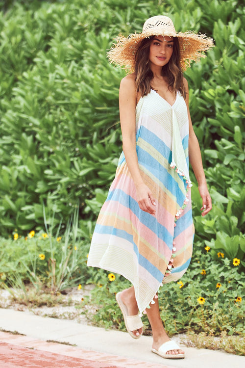 Maxi Tassel Dress in Lakeside Print