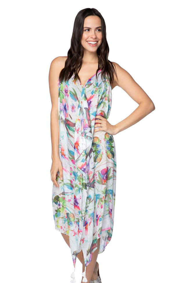 Maxi Tassel Dress in Aloha Paradise - Subtle Luxury